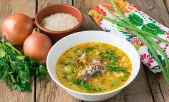 Суп из консервированной сайры с рисом - рецепт пошаговый с фото