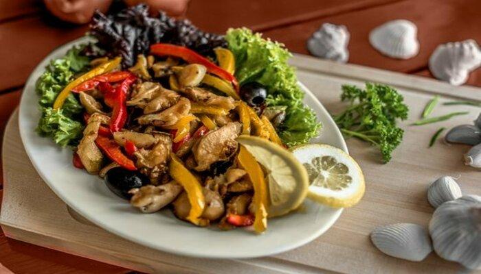 Жарены рапаны с овощами или грибами