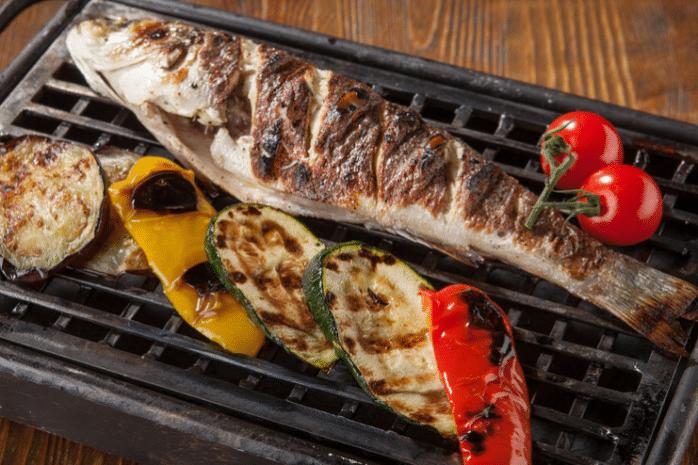калорийность рыбы сибас приготовленной на углях