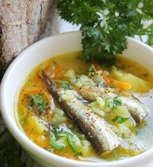 суп со шпротами с овощами