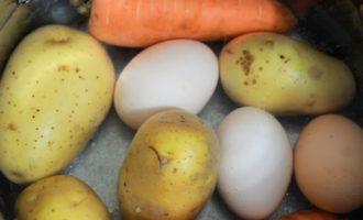 картошка и яйца
