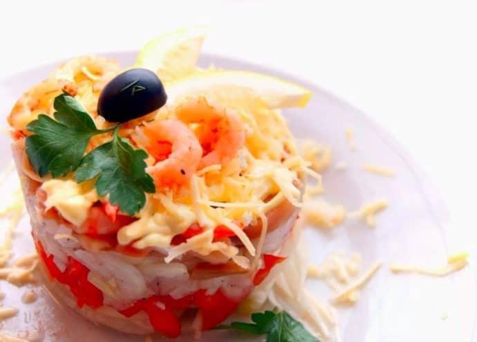 форель салат