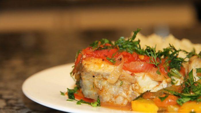 вкусная рыбная закуска из филе гренадера
