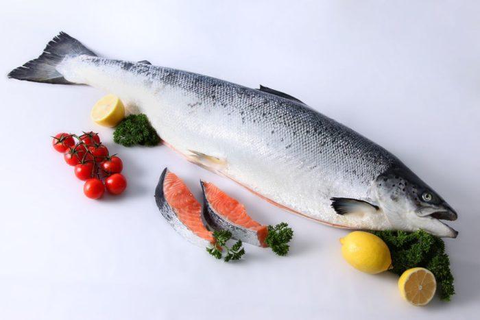семга и другая красная рыба содержит полезные витамины