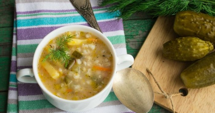 суп со шпротами с крупой