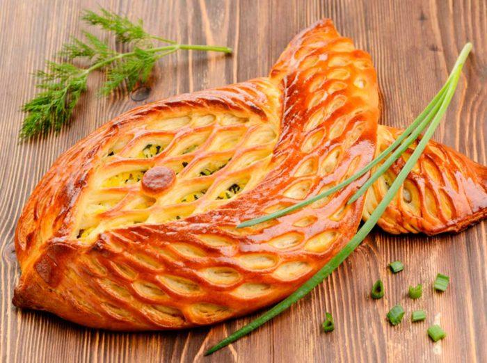 Рыбный пирог на тесте из кефира