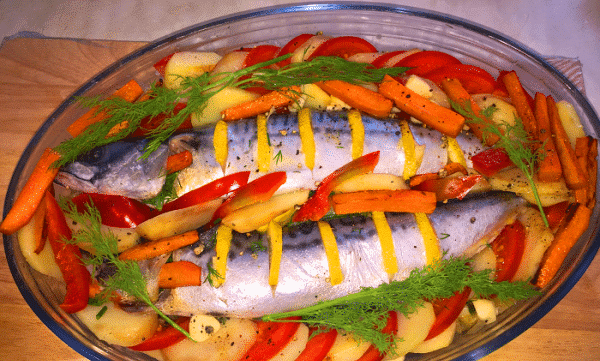 На овощной подушке