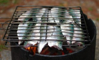 приготовление скумбрии на мангале
