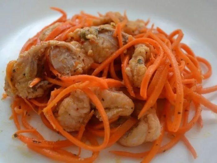 Хе из скумбрии с корейской морковью