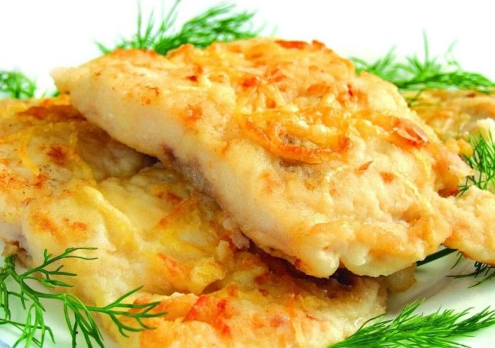 рыба минтай с сыром