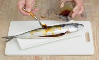 скумбрия в маринаде из соевого соуса