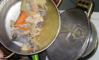 Рыбный суп из головы семги