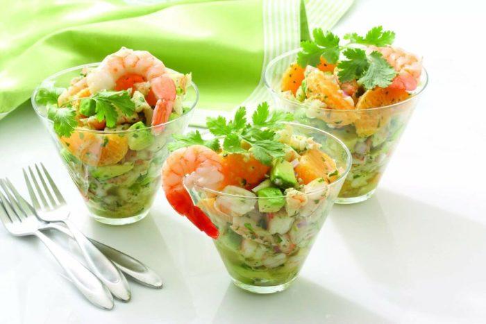 креветки в составе салата