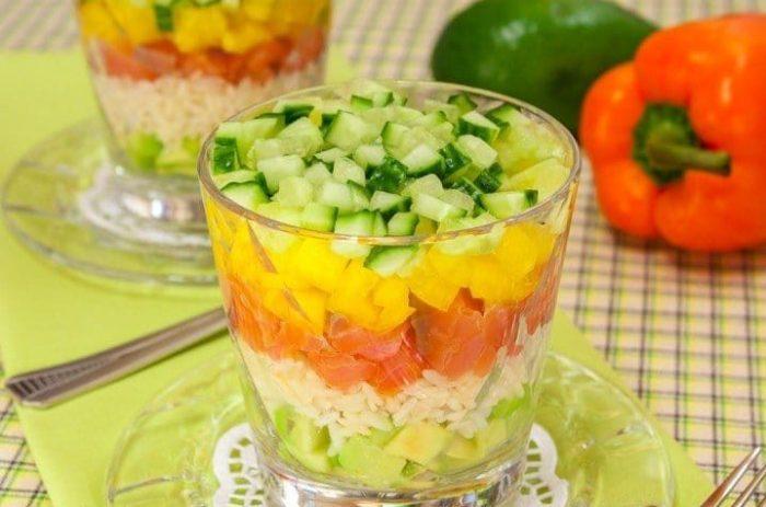 С рисом и авокадо