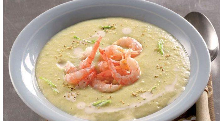 Картофельный крем-суп с крилем