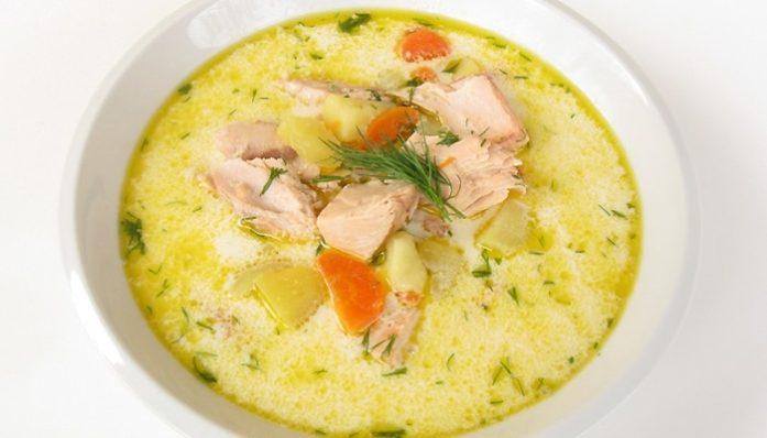 диетический рыбный суп с брокколи