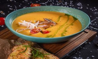 суп тыквенный с креветкой