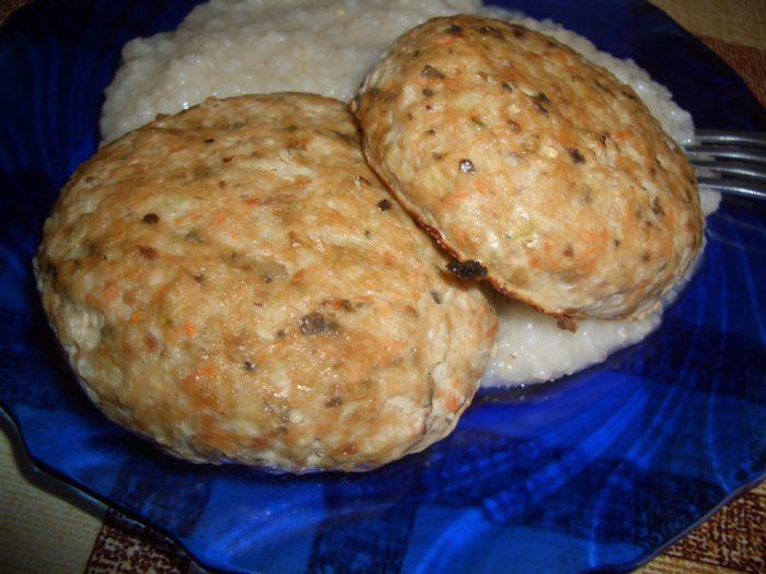 котлеты из рыбы с рисом на гарнир