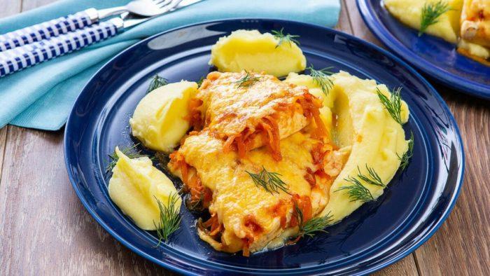 филе щки запеченное с сыром