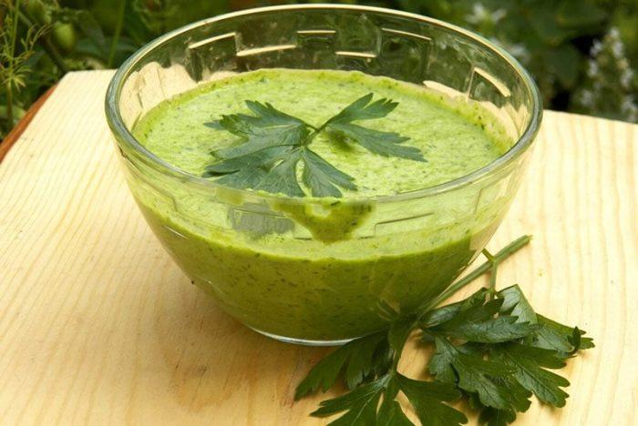 Соус зеленый к креветкам