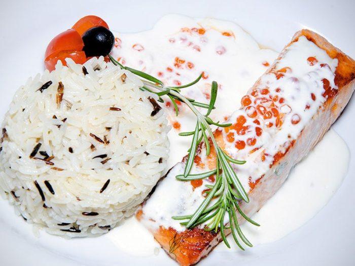 В итальянском соусе с рисом