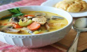 сытный суп с горбушей
