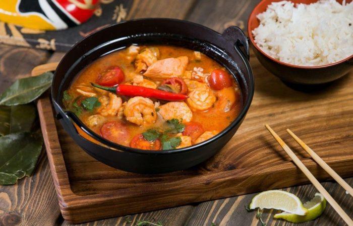 как подавать суп том ям