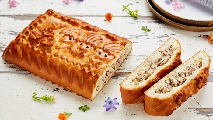 пирог с рыбой и сыром