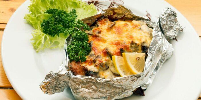 рыба с сыром запеченая в фольге