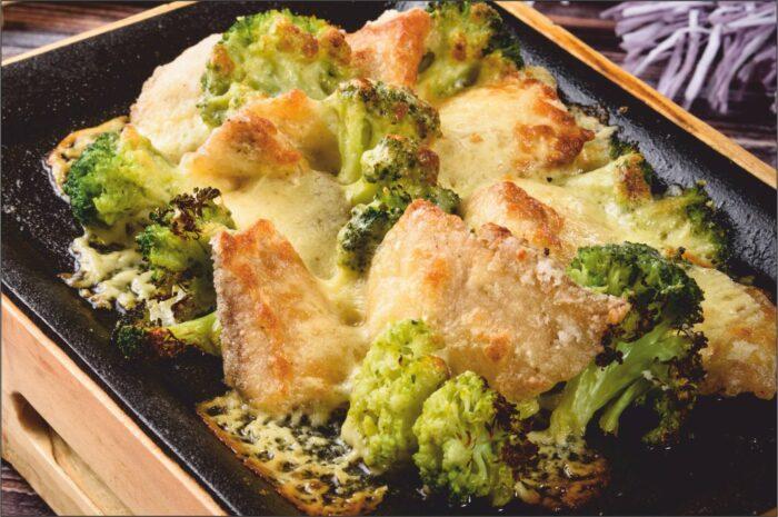 рыба запеченная с брокколи и сыром