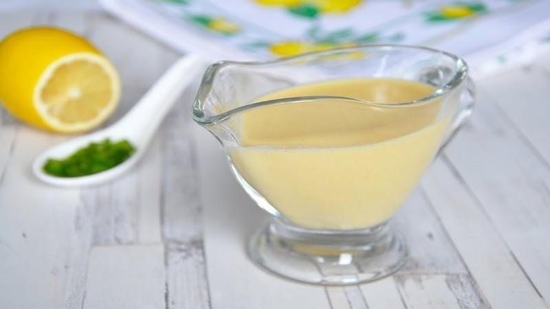 сливочный соус с лимоном