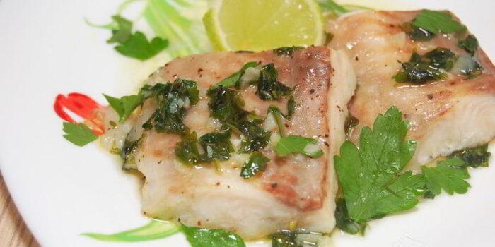рыба под мятным соусом