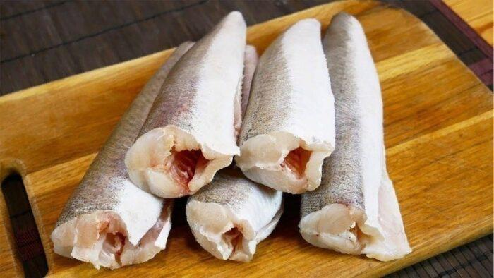 тушки рыбы минтай