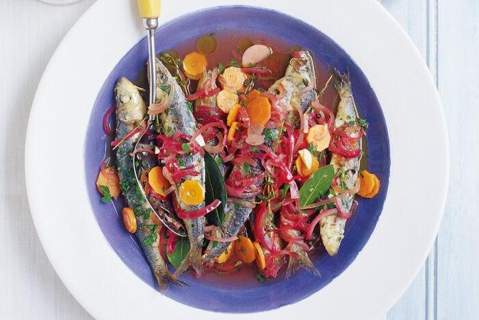 вкусная рыба с овощным маринадом