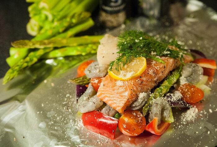 красная рыба по-норвежски