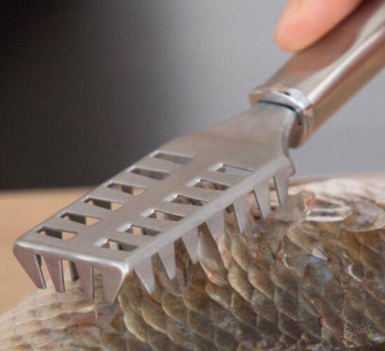 зубчатый нож для чистки рыбы
