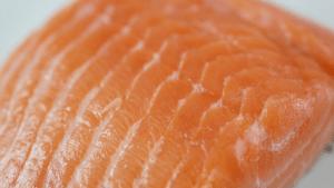 свежий стейк лосося