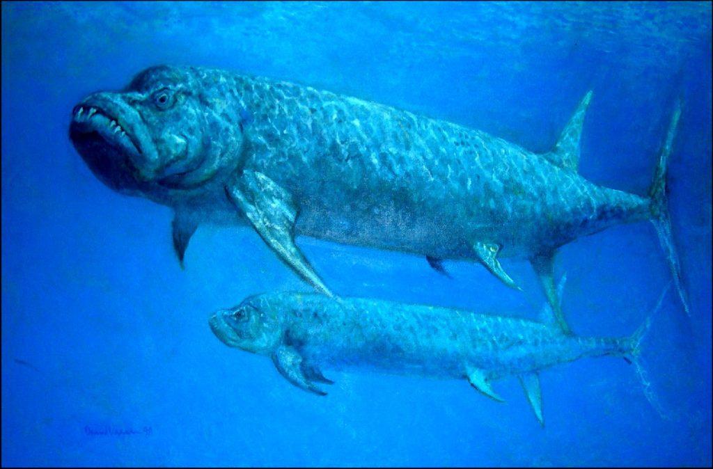 крупная древняя рыба