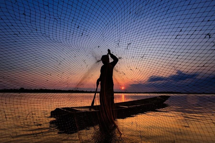 ловля рыбы сетью запрещена