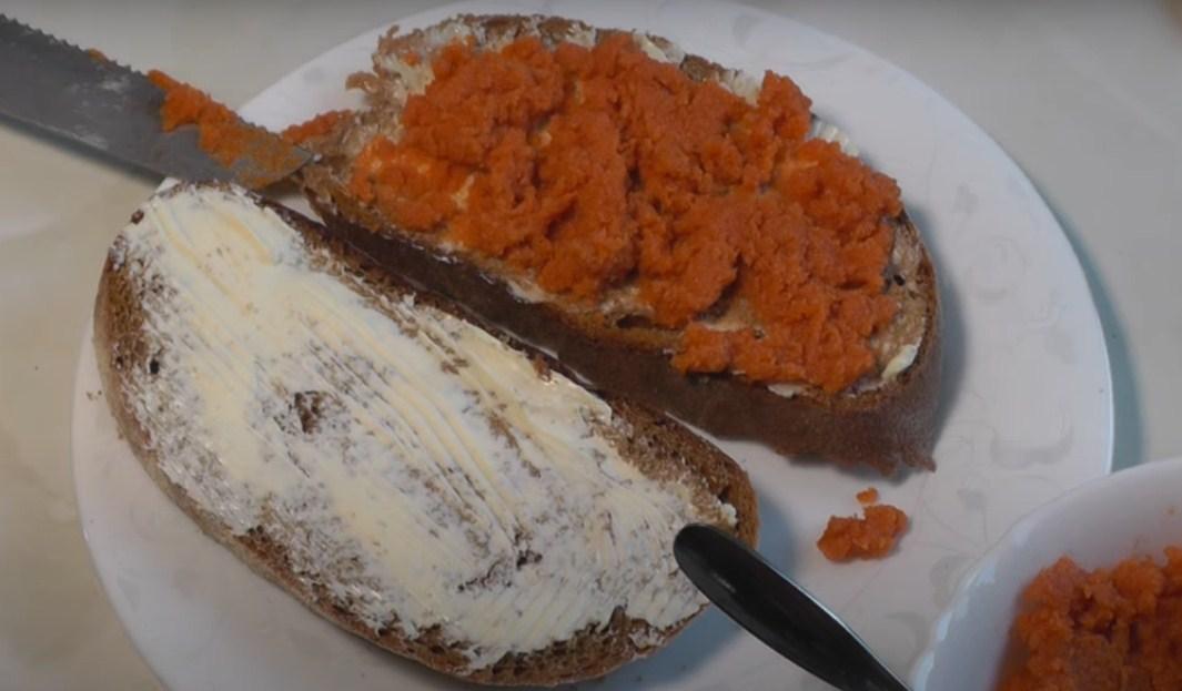 бутерброды с икрой из манки
