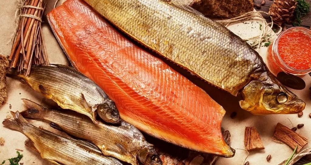 высушенная красная рыба