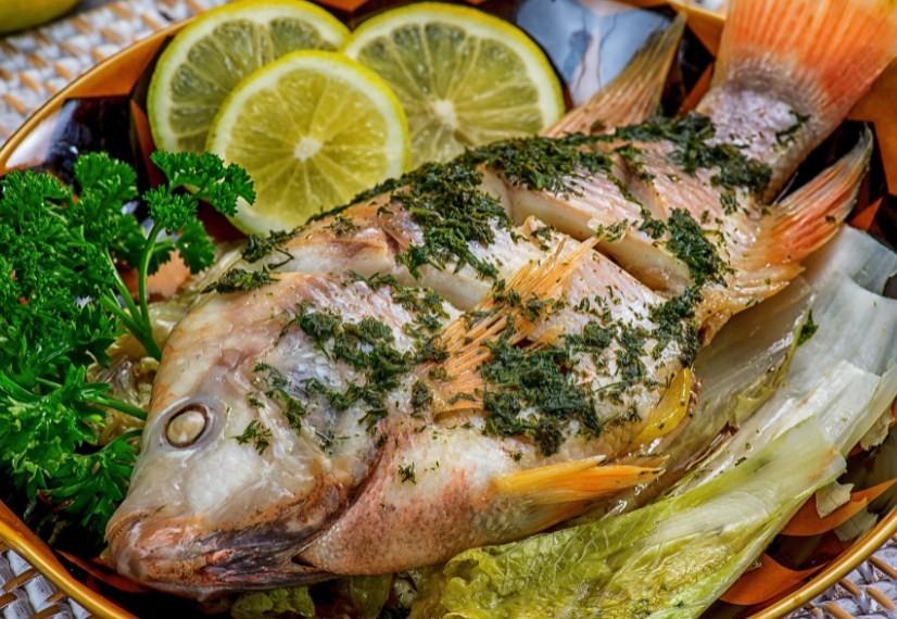 рыба запеченая с укропом