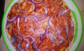 основа, лук и томат